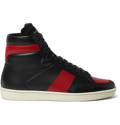 Saint Laurent SL10 Leather High-Top Sneakers
