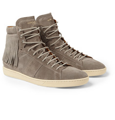 Saint Laurent - Fringed Suede High-Top Sneakers