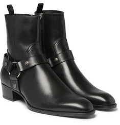 Saint Laurent - Leather Harness Boots
