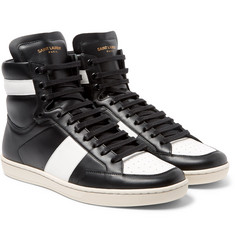 Saint Laurent - SL10 Leather High-Top Sneakers