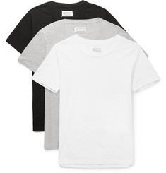 Maison Margiela Three-Pack Slim-Fit Cotton T-Shirts