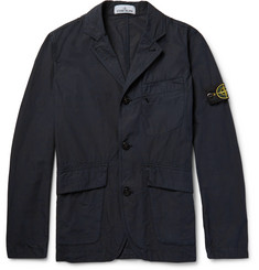 Stone Island Slim-Fit Garment-Dyed Washed-Cotton Jacket