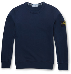 Stone Island - Slim-Fit Fleece-Back Cotton Sweater
