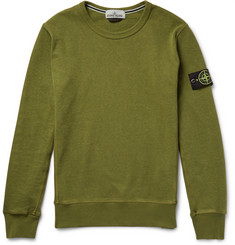 Stone Island - Garment-Dyed Loopback Cotton-Jersey Sweatshirt