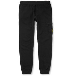 Stone Island - Tapered Loopback Cotton-Jersey Sweatpants