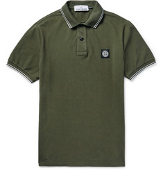 Stone Island - Slim-Fit Cotton-Piqué Polo Shirt