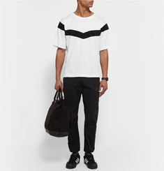 White Mountaineering Oversized Striped Cotton-Jersey T-Shirt