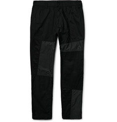 White Mountaineering - Slim-Fit Panelled Cotton-Canvas, Shell and Twill Trousers