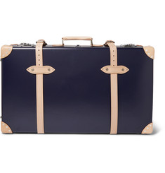 "Kingsman - + Globe-Trotter 30"" Pinstripe-Lined Wheeled Suitcase"