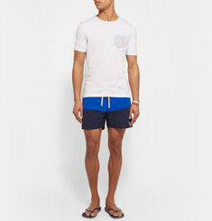Saturdays Surf NYC - Grant Striped Mid-Length Swim Shorts