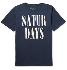 Saturdays Surf NYC - Printed Cotton-Jersey T-Shirt