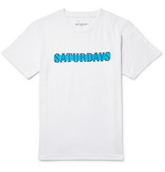 Saturdays Surf NYC Transparent Slab Slim-Fit Printed Cotton-Jersey T-Shirt