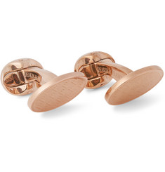 Kingsman + Deakin & Francis Rose Gold-Plated Chevron Cufflinks