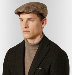 Kingsman + Lock & Co Hatters Checked Cotton-Tweed Flat Cap