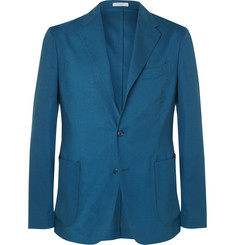 Boglioli - Blue Slim-Fit Wool and Silk-Blend Blazer
