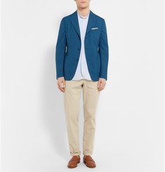 Boglioli Blue Slim-Fit Wool and Silk-Blend Blazer