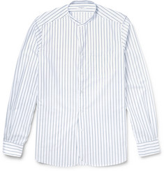 Boglioli - Slim-Fit Grandad-Collar Striped Cotton Shirt