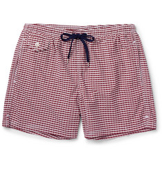 Boglioli Printed Mid-Length Swim Shorts