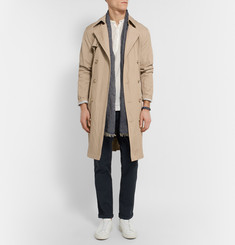 Michael Kors Double-Breasted Twill Trench Coat