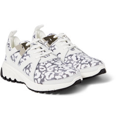 Neil Barrett - Leopard-Print Leather and Neoprene Sneakers
