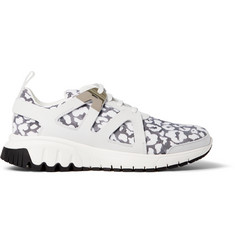 Neil Barrett Leopard-Print Leather and Neoprene Sneakers