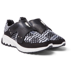 Neil Barrett - Nubuck and Leather-Trimmed Printed Neoprene Sneakers