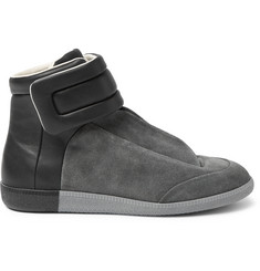 Maison Margiela Future Suede And Leather High-Top Sneakers