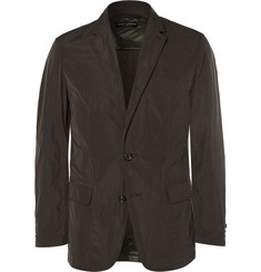 Marvy Jamoke - + Beams Dark-Green Slim-Fit Brushed-Shell Blazer