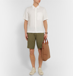 Margaret Howell MHL Cotton and Linen-Blend Twill Shorts