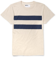Margaret Howell MHL Slim-Fit Striped Cotton and Linen-Blend T-Shirt