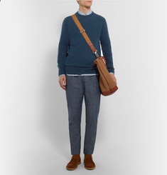 Margaret Howell Mélange Cotton and Cashmere-Blend Sweater
