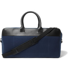 A.P.C. Leather-Trimmed Cotton Holdall