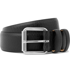 A.P.C. 3cm Black Grained-Leather Belt
