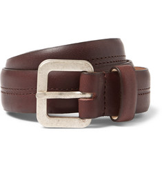 A.P.C. 2.5cm Burgundy Leather Belt