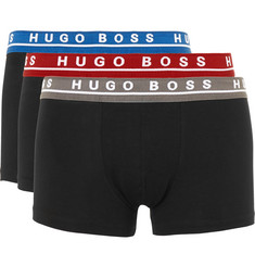 Hugo Boss - Three-Pack Stretch-Cotton Boxer Briefs