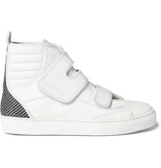 Raf Simons Panelled Leather High-Top Sneakers
