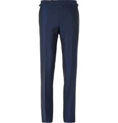 Tom Ford - Blue Slim-Fit Mohair and Wool-Blend Suit Trousers