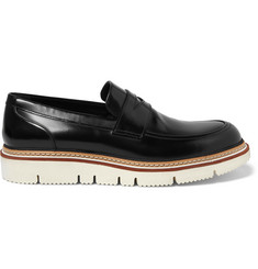 Jimmy Choo Leon Polished-Leather Penny Loafers