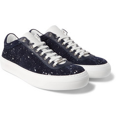 Jimmy Choo - Portman Paint-Splattered Suede Sneakers