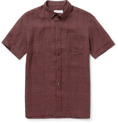 Several - Monaco Slim-Fit Button-Down Collar Printed Linen Shirt