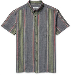 Several Arundell Striped Nep Cotton and Linen-Blend Shirt