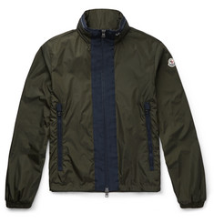 Moncler Contrast-Placket Shell Jacket