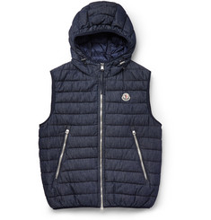 Moncler Dover Hooded Denim Down Gilet