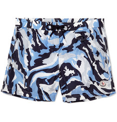 Moncler Camouflage-Print Mid-Length Swim Shorts