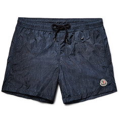 Moncler - Short-Length Denim-Effect Swim Shorts