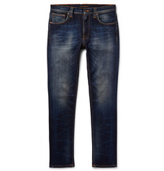 Nudie Jeans Lean Dean Slim-Fit Washed Organic Stretch-Denim Jeans