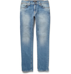 Nudie Jeans - Thin Finn Slim-Fit Washed Organic Stretch-Denim Jeans