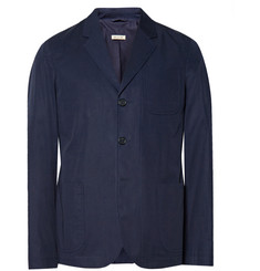 Marni Blue Slim-Fit Brushed-Cotton Blazer