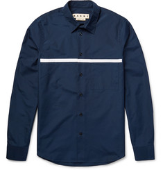 Marni - Slim-Fit Appliquéd Cotton-Poplin Shirt