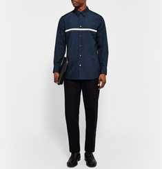 Marni Slim-Fit Appliquéd Cotton-Poplin Shirt